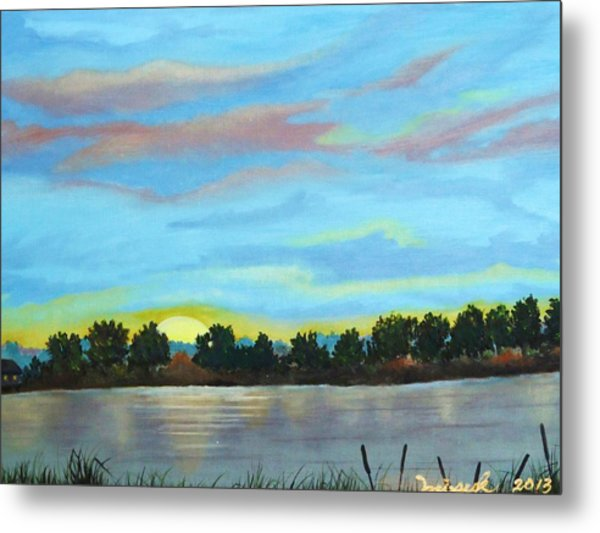 Evening On Ema River Metal Print