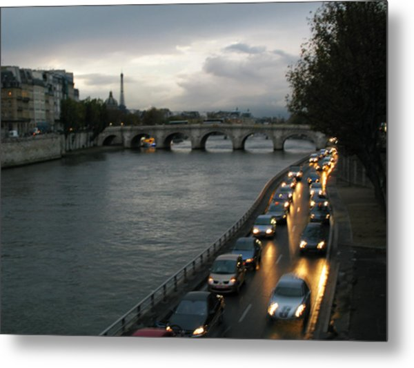 Evening On Pont Au Change  Metal Print