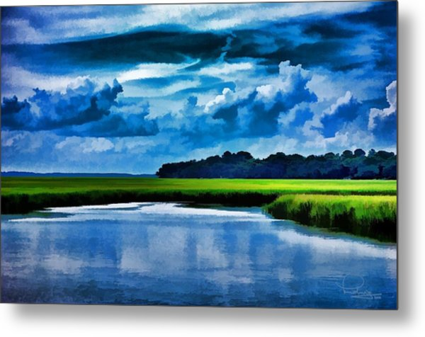 Evening On The Marsh Metal Print