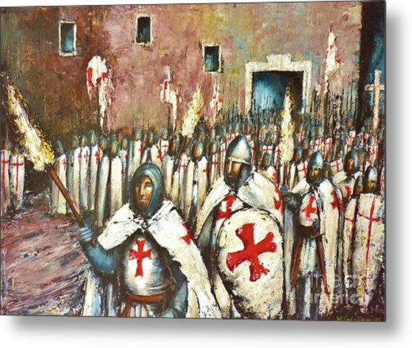 Templar Procession  Metal Print