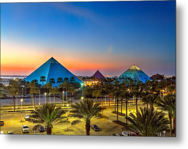 Evening Pyramids Metal Print