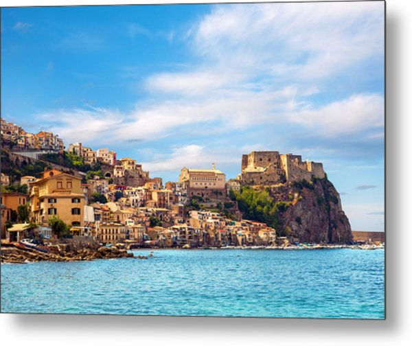 Evening Scilla Castle Metal Print