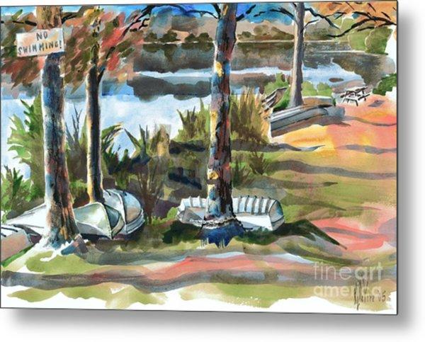 Evening Shadows At Shepherd Mountain Lake  No W101 Metal Print