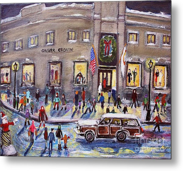 Evening Shopping At Grover Cronin Metal Print