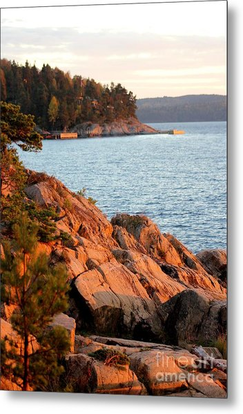 Evening Sun By The Waterfront Metal Print