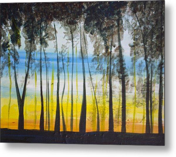 Evening Trees Metal Print