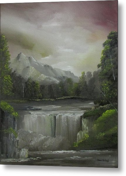 Evening Waterfalls Metal Print