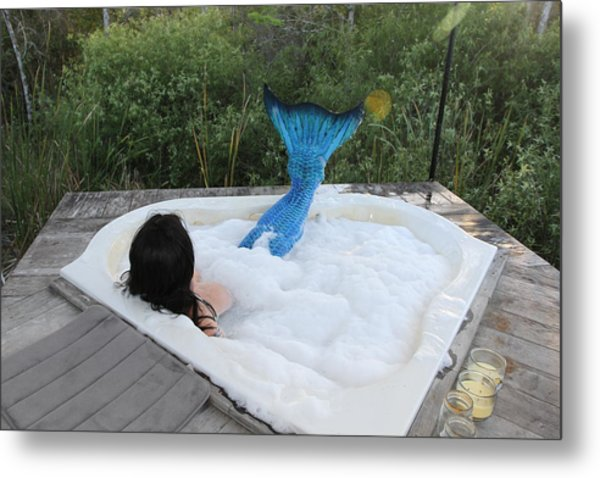 Everglades City Florida Mermaid 018 Metal Print
