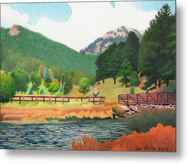 Evergreen Lake Spring Metal Print
