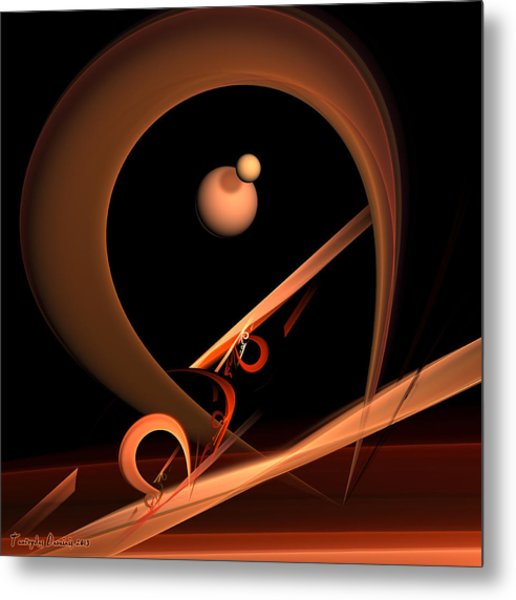 Everlasting Love Equilibrist For Woman Acrobat. 2013 80/80 Cm.  Metal Print by Tautvydas Davainis