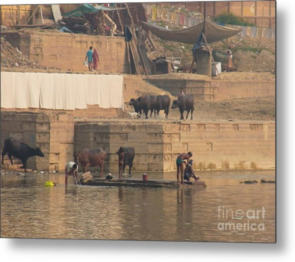 Everyday Life At Kashi Metal Print by Agnieszka Ledwon