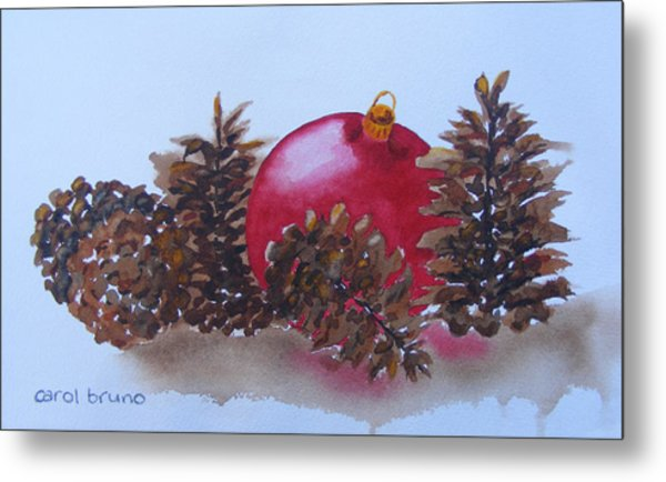 Everyone's Welcome At Christmas Metal Print by Carol Bruno