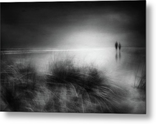 Everything Changes Like The Shoreline And The Sea Metal Print