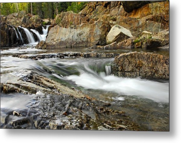 Everything Flows Metal Print