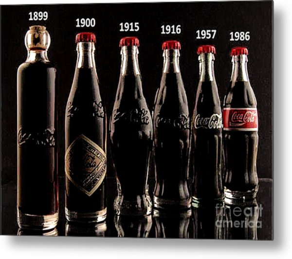 Evolution Of Coca Cola Tm Metal Print