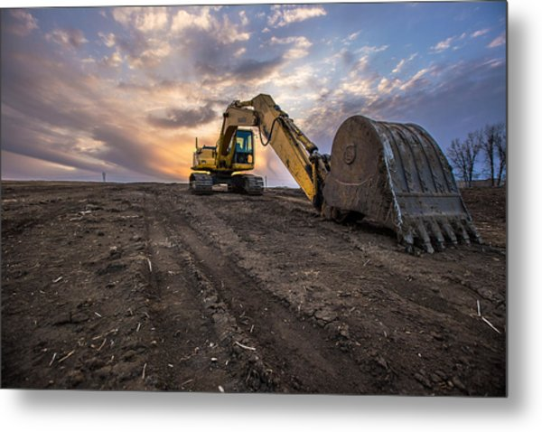 Excavator Metal Print