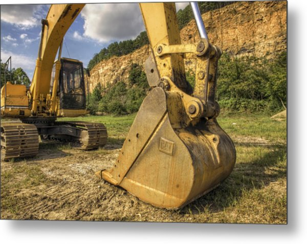 Excavator At Big Rock Quarry - Emerald Park - Arkansas Metal Print