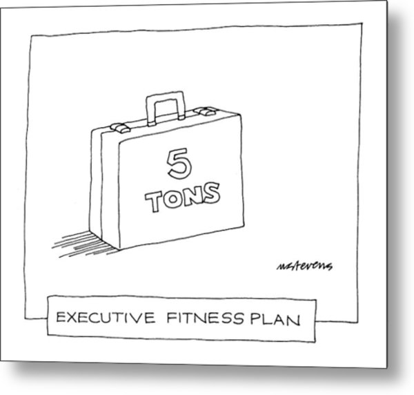 'executive Fitness Plan' Metal Print