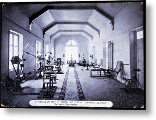 Exercise Room At A Spa Metal Print by Cci Archives/science Photo Library