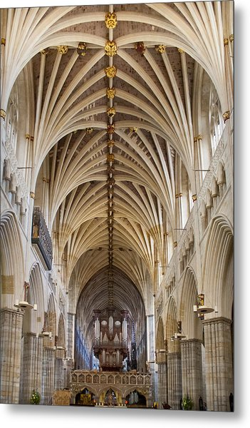 Exeter Cathedral And Organ Metal Print