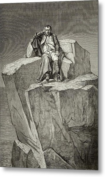 Exiled On Saint Helena, He  Chooses Metal Print by Mary Evans Picture Library
