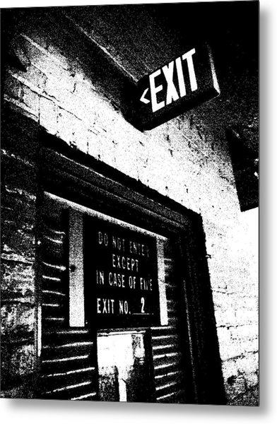 Exit Number Two Metal Print