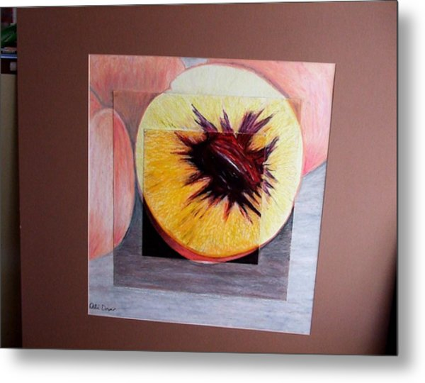 Expanding Peach Metal Print by Ali Dover