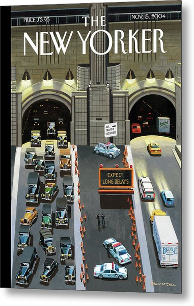 Expect Long Delays Metal Print by Bruce McCall
