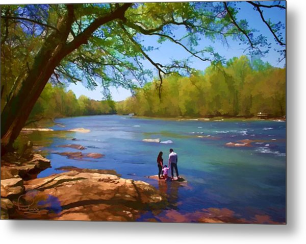 Exploring The River Metal Print
