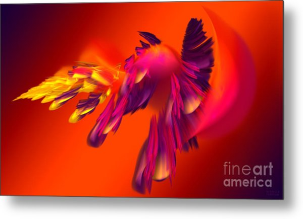 Explosion Of Hot Colors Metal Print