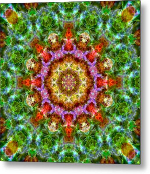 Expression Mandala Metal Print