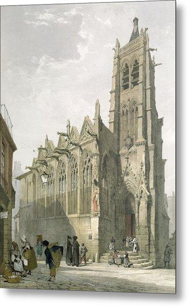 Exterior Of The Church Of St. Severin, Paris Metal Print