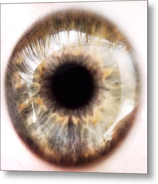 Extreme Close-up Of Human Eye Metal Print by David Crunelle / Eyeem