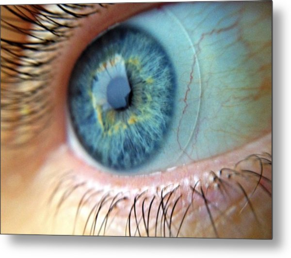 Extreme Close Up Of Human Eye Metal Print by Miroslav Hlousek / Eyeem