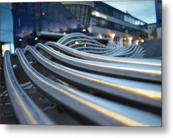 Extreme Close Up Of Wires In A Row Metal Print by Rogilio Reid / Eyeem