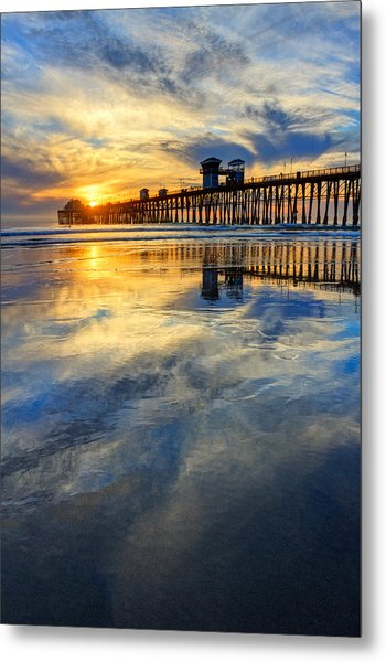 Extreme Low Tide Reflections  Metal Print by Donna Pagakis