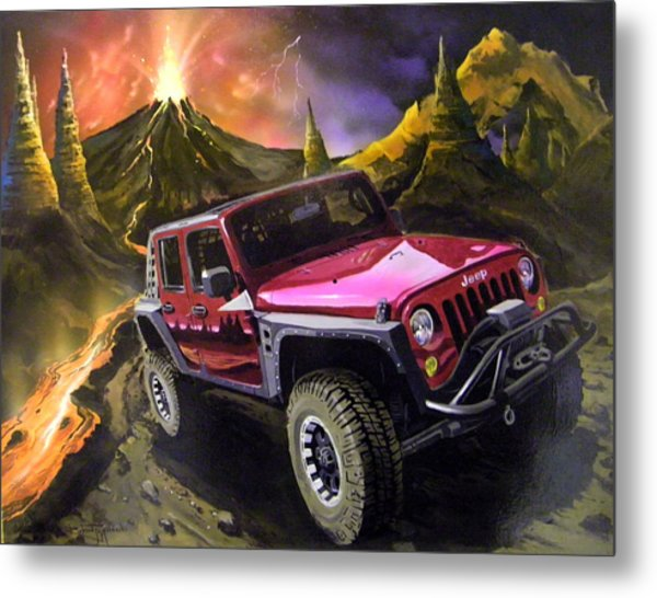 Extreme Off Roading Metal Print