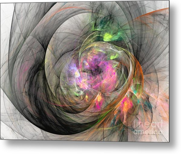 Metal Print featuring the digital art Eye Of The Beauty by Sipo Liimatainen