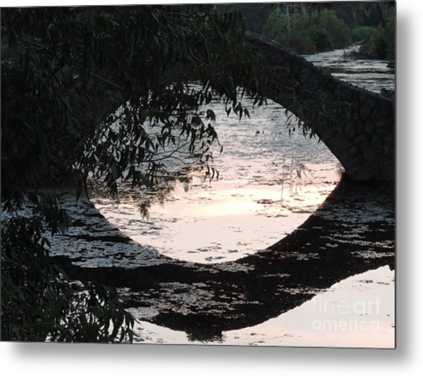 Eye See Colors Of A Lagoon At City Park In New Orleans Louisiana Metal Print