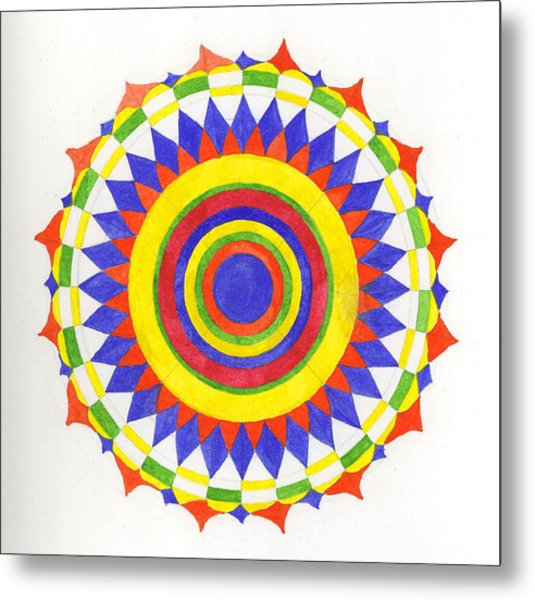 Eye World Mandala Metal Print by Silvia Justo Fernandez