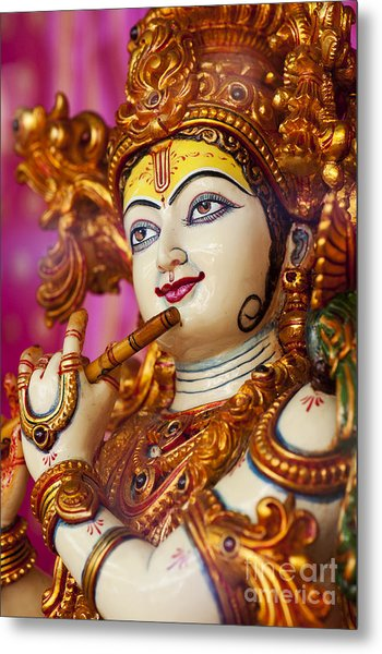 Eyes Of Krishna Metal Print