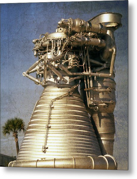 F-1 Rocket Engine Metal Print
