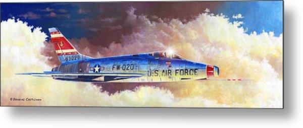F-100d Super Sabre Metal Print