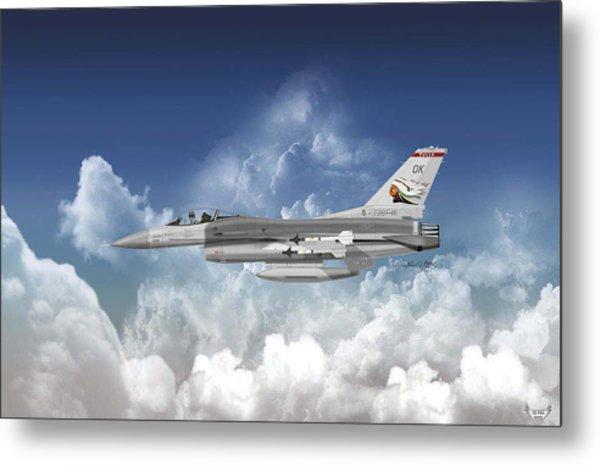 F-16c Falcon Metal Print by Arthur Eggers