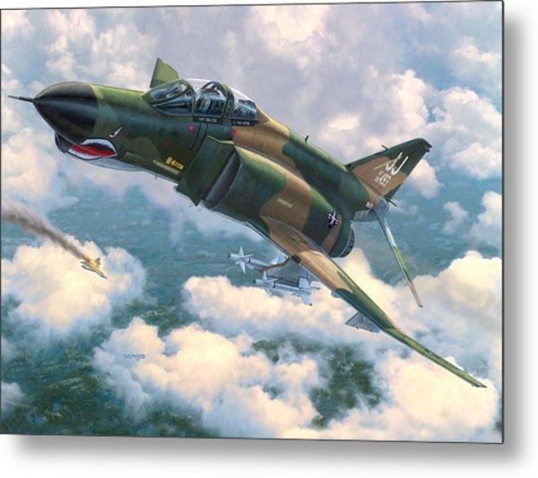 F-4e Mig Killers Metal Print by Stu Shepherd