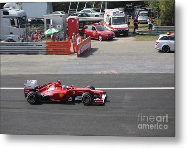 F1 - Fernando Alonso  -  Ferrari Metal Print