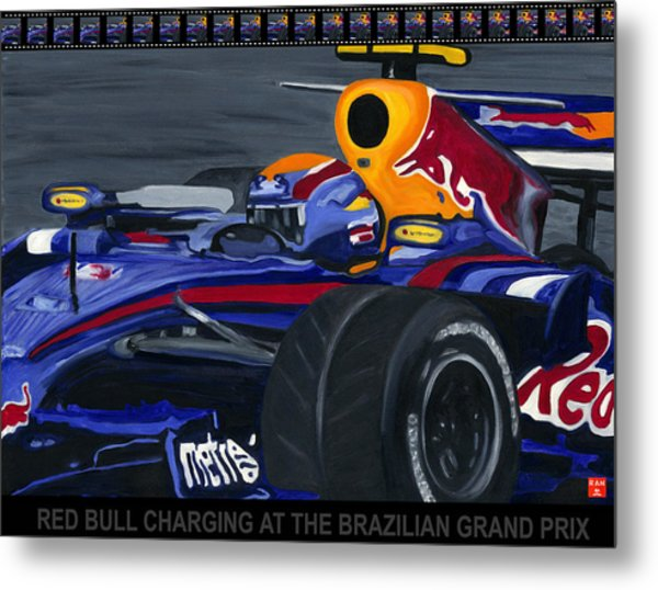 F1 Rbr At The Brazilian Grand Prix Metal Print