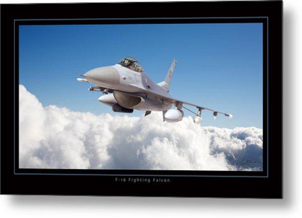 F16 Fighting Falcon Metal Print by Larry McManus