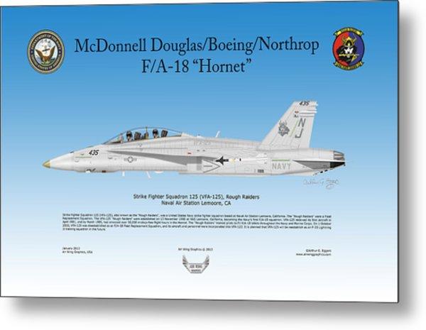Fa-18 Hornet Metal Print by Arthur Eggers