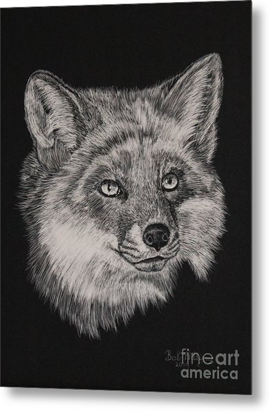 Fabulous Mr. Fox Metal Print